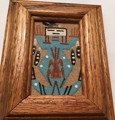 Native American Sand Painting, Mother Earth, Signed and Framed, Heard Museum