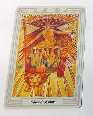 Prince of Wands single tarot card Crowley Large Thoth Tarot 1996 AGM Agmuller