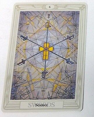 Science 6 Swords single tarot card Crowley Large Thoth Tarot 1996 AGM Agmuller