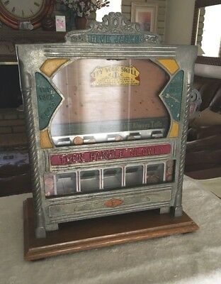 Rare 1930s Fields Five Jacks Penny Drop Gambling Machine Trade Stimulator