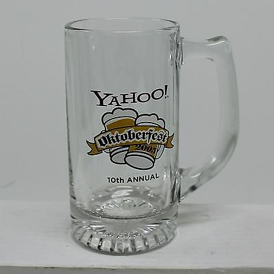 2005 YAHOO! 10th Annual Oktoberfest Glass Beer Stein 11oz Corporate Collectible