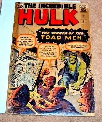 Incredible Hulk #2 1962 Key Issue Green Skin Silver Age Mighty Marvel Comics
