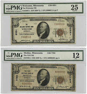 The Most Friendly & Unfriendly Notes from Minnesota 1929 $10 National Banknotes
