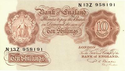 Great Britain 10 Shillings Currency Banknote 1949 XF