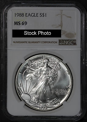 1988 American Silver Eagle NGC MS-69 -164070