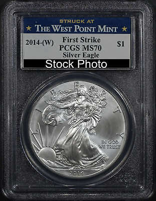 2014-(W) American Silver Eagle First Strike PCGS MS-70 West Point Label -164818