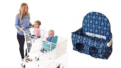 Buggy Bench Shopping Cart Seat in Ocean Blue for Baby, Toddler, Twins