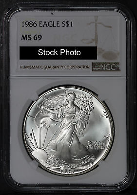 1986 American Silver Eagle NGC MS-69 -163601