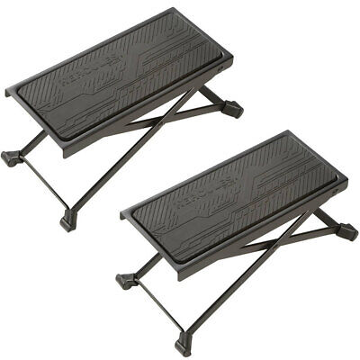 2PK Hercules Guitar Foot Rest Adjustable Stool Angle Height Non-slip Rubber Pad