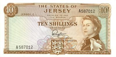 Jersey 10 Shillings Currency Banknote 1963