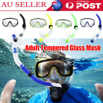 Dry Snorkel Adult Pvc Tempered Glass Mask Snorkeling Set With Gopro Mount