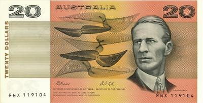 Australia $20 Dollars Currency Banknote 1991  XF