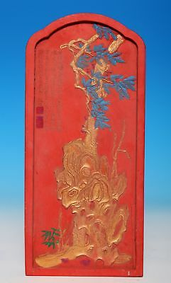 Nice Chinese Hand Carving Inkslab Calligraphy Old Inkstone Mark QianLong US091