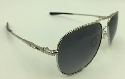 d7fc75b6770da Oakley OO4119-0258 ELMONT M Aviator Sunglasses -Chrome w Grey Gradient  Polarized