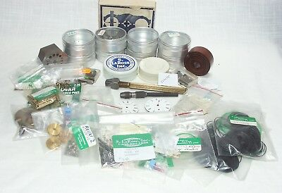 MIXED LOT OF WATCH & CLOCK PARTS & TOOLS FROM S. LaROSE, ETC.