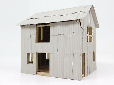 HO 1/87 Scale Unknown Unfinished House or Office Model Building Assembled