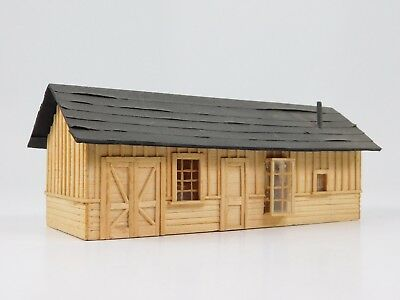 HO 1/87 Scale Unknown One Story Wood Model Building Assembled