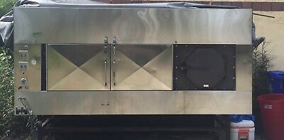 Ole Hickory rotating commercial bbq smoker