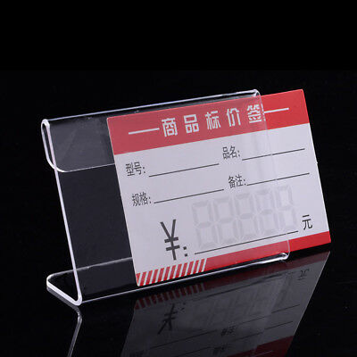 20X Clear Acrylic Desk Name Card Holder Meeting Table Stand Office Sign 9X6cm