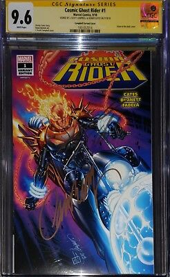 Cosmic Ghost Rider 1 SDCC CGC SS 9.6 Signed by Campbell & Cates Glow in the Dark
