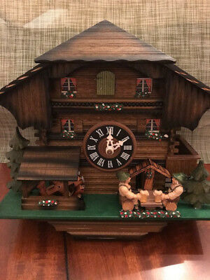 Black Forest Cuckoo Clock Handmade by Hones Germany Bucherer Lucerne Switzerland