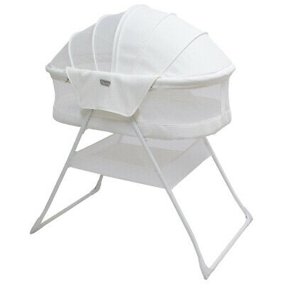 White Valco Baby Rico Bassinet Fully Enclosed Standing for Baby Infant Newborn