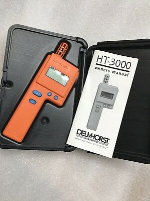 Delmhorst HT-3000W/CS HT-3000 Digital Thermo-Hygrometer with Case & Manual