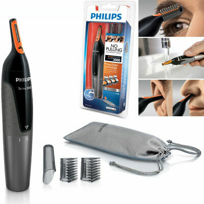 Hair Trimmer PHILIPS NT3160 Nose Ear Eyebrow Shaver - Washable No Pulling No Cut