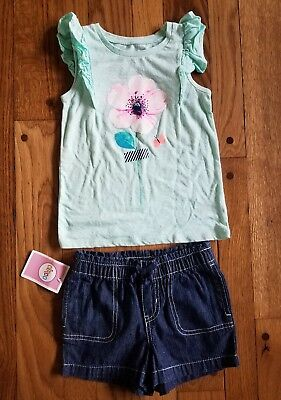 Cherokee flower top + Circo shorts 4t girls outfit.
