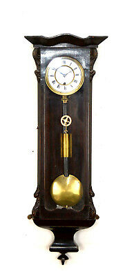 Rare Antique Original Biedermeier 8 DAY Miniature Vienna Regulator Wall Clock