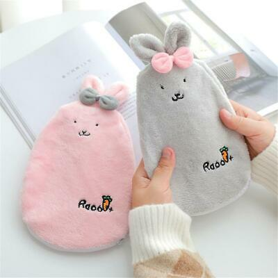 Cartoon Plush Hot Water Bottle Bag Warm Relaxing Heat Cold Therapy Hand Warmer