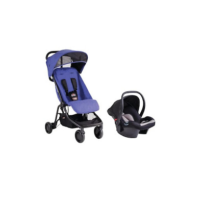 NEW Mountain Buggy Nano Travel System Protect Infant Car Seat & Stroller Blue V1