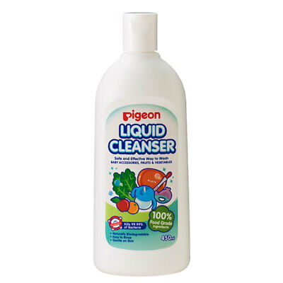 450ml Pigeon Liquid Cleanser Soap for Baby Teat Bottles Toys Fruit Vegetables