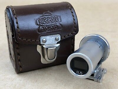 Nikon Nippon Kogaku silver 8.5cm 85mm Viewfinder with Leather case - CLEAN