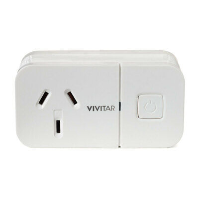 Vivitar Remote Wireless Smart Wi-Fi Plug Home Powerpoint Security System App