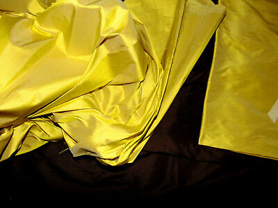 Beautiful Medium Weightrich Chartreuse Silk - 1 3/4 Yds X 54 Inches