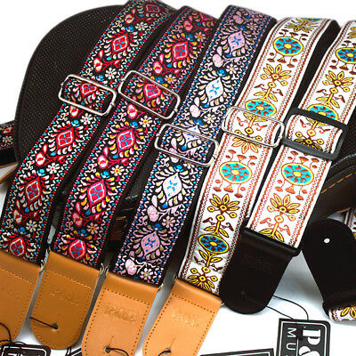 Guitar Strap Embroidered Vintage Woven Bass Electric Acoustic Guitars.3 Colors