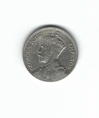 1934 New Zealand One Shilling Silver Foreign Coin***CHOICE A.UNC.***