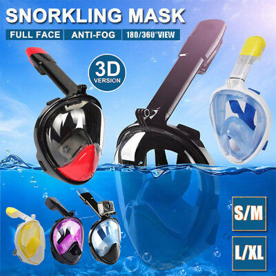 Full Face Diving Snorkel Mask Snorkeling Swimming Goggles GoPro AU Fast Shipping