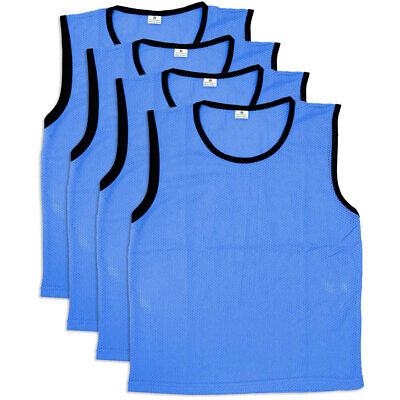 4PK Summit Small Size Blue Mesh Bibs Soccer Vest Rugby Sport Training T-Shirt