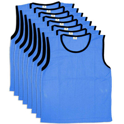 8PK Summit Small Size Blue Mesh Bibs Soccer Vest Rugby Sport Training T-Shirt