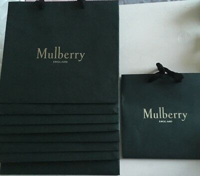 9 pieces of mulberry Shopping bags Gift bags