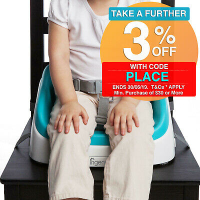 Ingenuity Smartclean Kids Toddler 16m-5yr Aqua Portable Seat Booster High Chair
