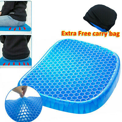 Gel Honeycomb Seat Comfort Cushion Flex Back Support Spine Protector AU Stock