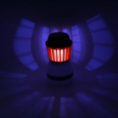 LED Mosquito Killer Fly Bug Insect Zapper Light Trap Lamp Camping Home PT
