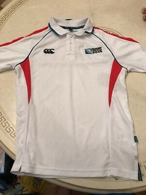 Official Canterbury Men's Rugby World Cup 2015 Winger Polo Shirt, White