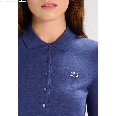 Polo Manches Fit Lacoste ChineaccTaille Femme Slim Ancre 38 H9ED2I