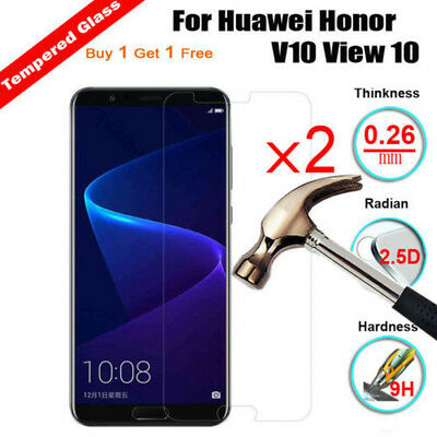 2Pcs 9H Ultra Thin Clear Tempered Glass Screen Protector For Huawei Honor V10 7A
