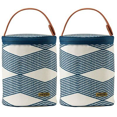 2x JJ Cole Navy Insulated Thermo Cooler Bag Ice Pack for Baby Bottle Sippy Cup