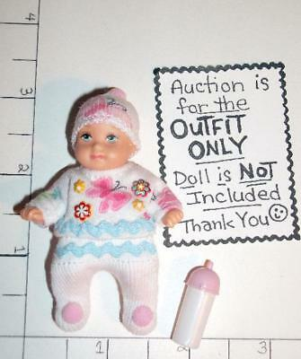 """OOAK Butterfly Top & Tights Set - Fits Tiny 2.5"""" to 3"""" Barbie Baby Krissy"""